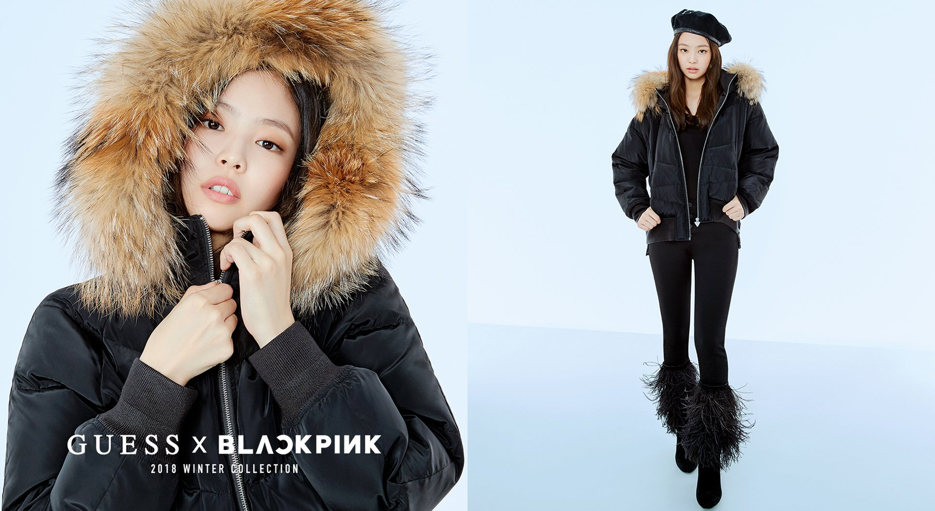 5 Blackpink Jennie Guess Winter Collection 2018 Coat Jacket