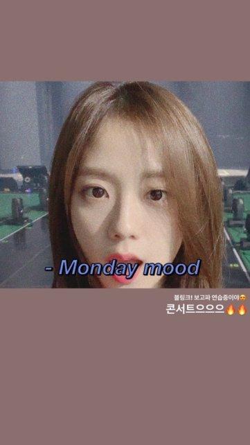 BLACKPINK Jisoo Instagram Story 22 October 2018