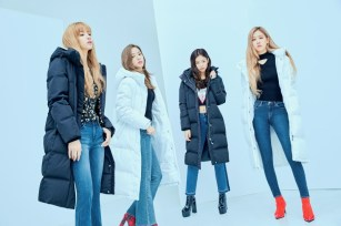 11-HQ-BLACKPINK GUESS Winter Coat Jacket Collection
