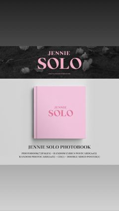 2-BLACKPINK Jennie Instagram Story 5 November 2018 SOLO Photobook