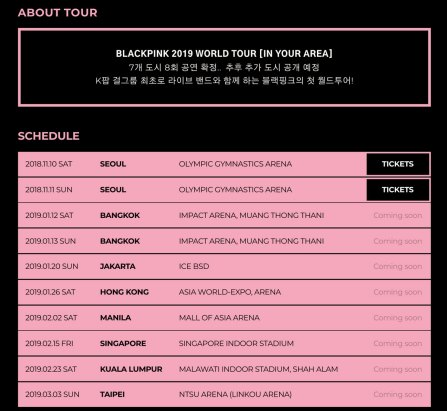 Blackpink Concert Manila Ticket Price