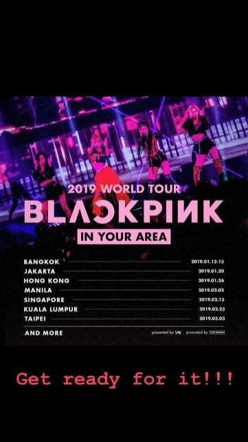 -BLACKPINK Lisa Instagram Story 1 November 2018 World Tour