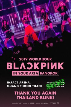 BLACKPINK 3 shows in Bangkok Thailand Sold Out