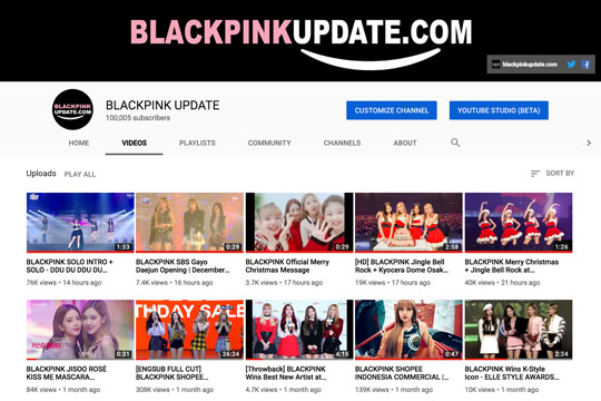 blackpink-update-youtube-channel-surpassed-100k-subscribers