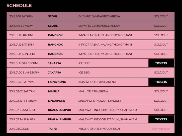 new-Schedule-BLACKPINK-World-Tour-2019