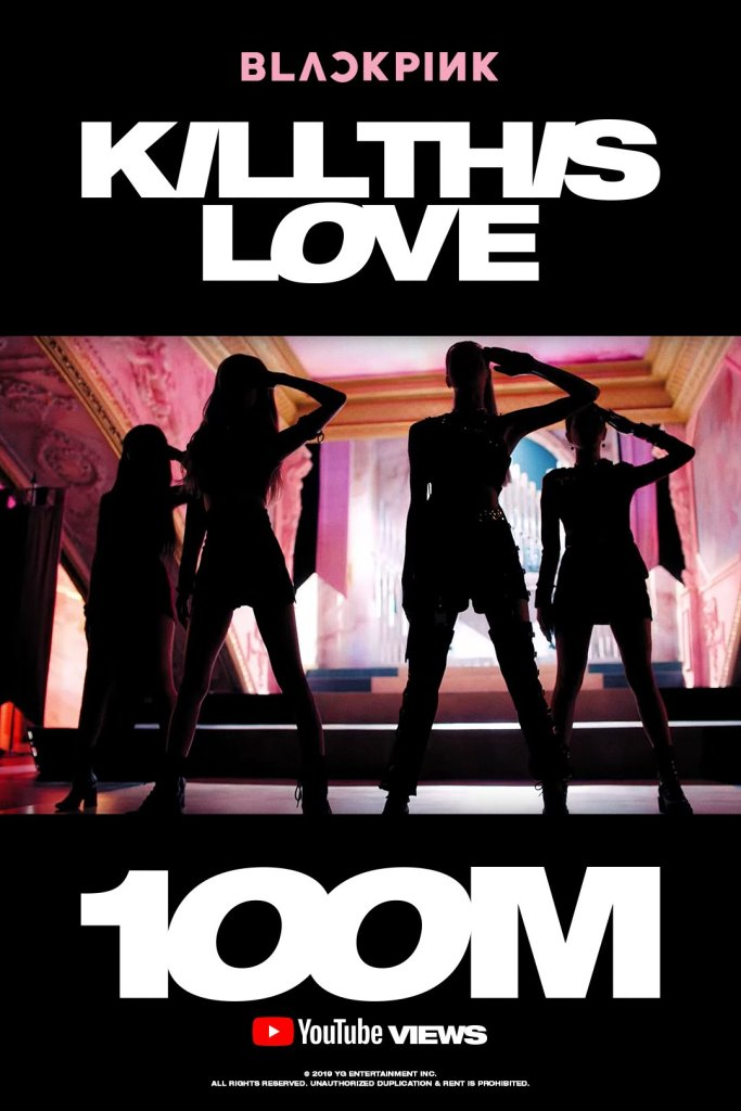 Image result for kill this love 100 million view