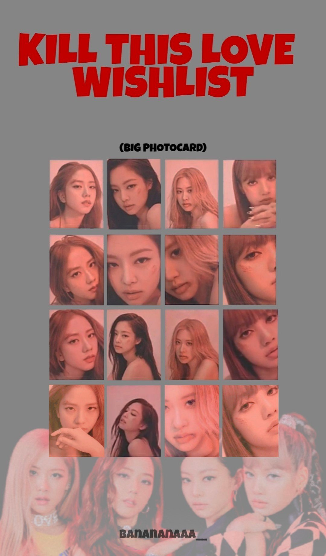 BLACKPINK photocard with bruises kill this love 1