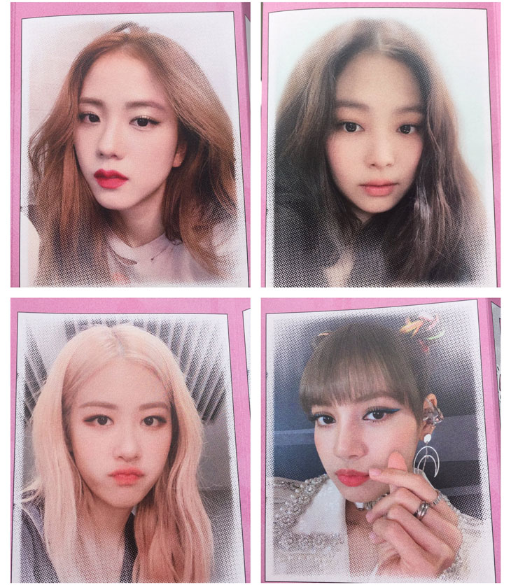 cover BLACKPINK Members Message Photocard Private Stage 1