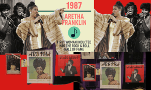 Aretha Franklin 1987 Rock & Roll Hall of Fame