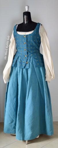 blue skirt waistcoat front