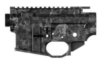 Black Rain Ordnance Billet AR15 Receiver Set - Skulls