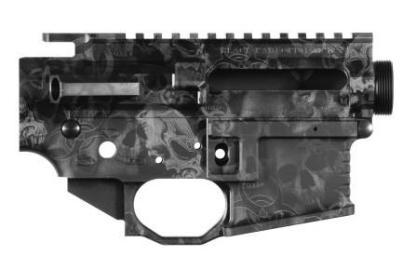 Black Rain Ordnance Billet AR10 Receiver Set - Skulls