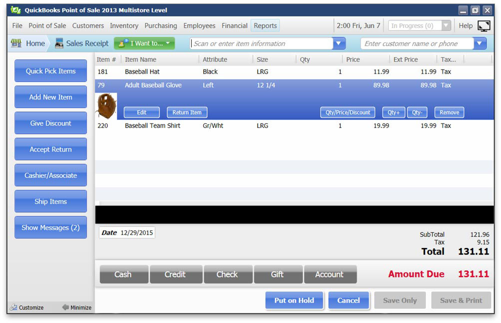 QuickBooks POS: Email a Receipt From Point of Sale   BlackRock