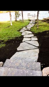 natural stone walking path