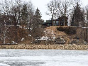 shoreline restoration to hold back hillside
