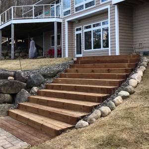 custom stairs landscaping in Brainerd Lakes MN