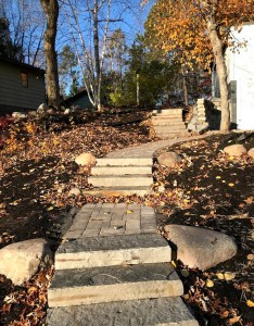 stone steps landscaping project in Crosslake MN