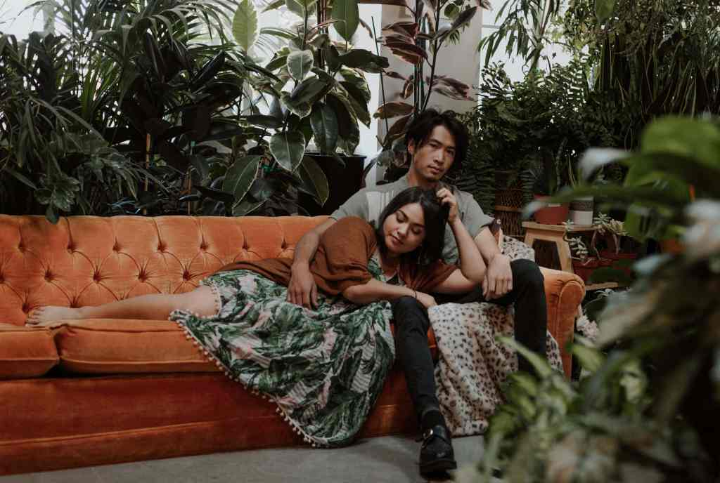 Las Vegas Couples Session in a plant shop Carrie Lynns Plants Summerlin