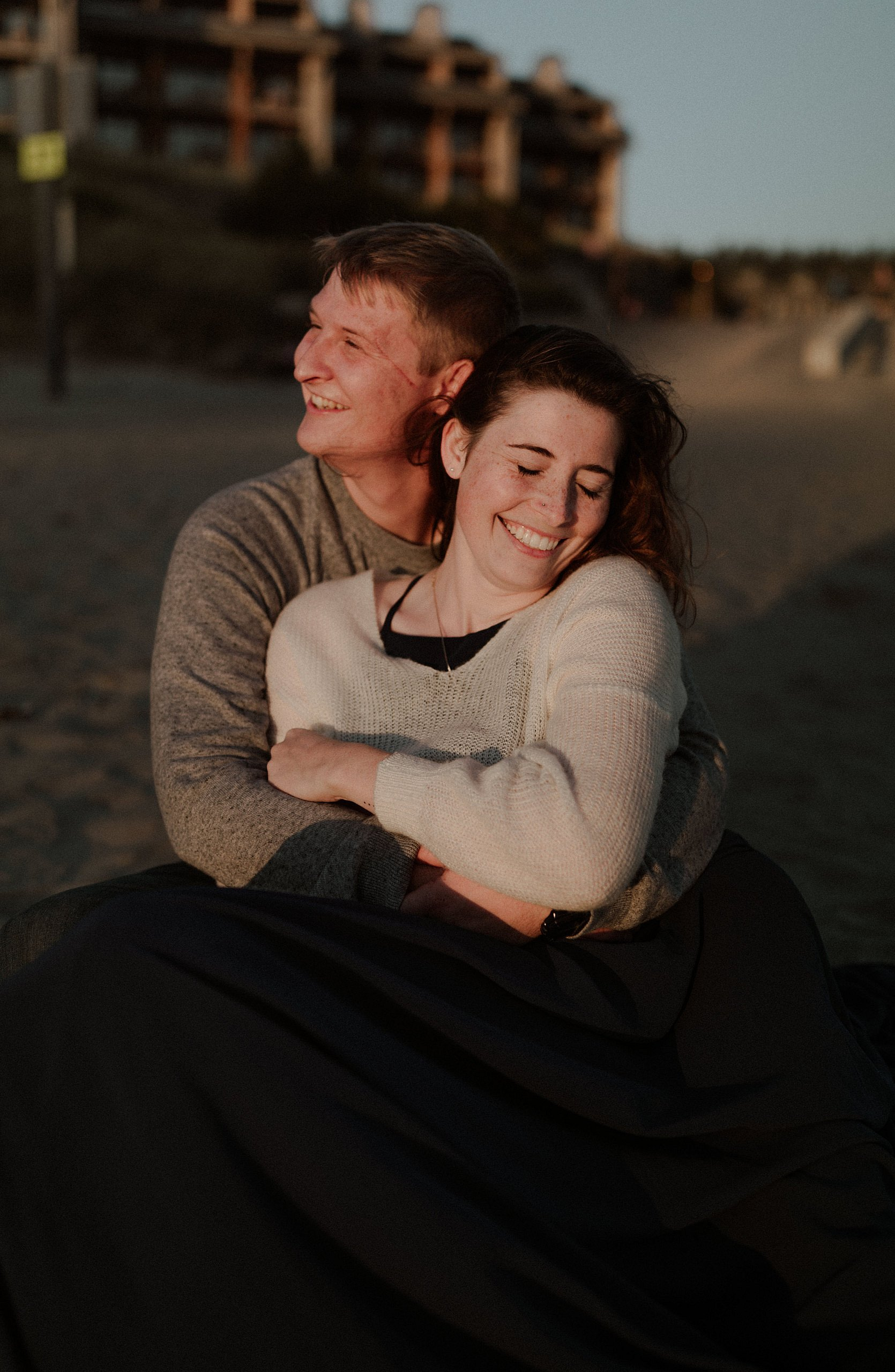 Oregon Coast Elopement on the Pacific City Beach at Sunset