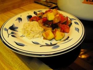 Deb's Ratoutille with brown rice