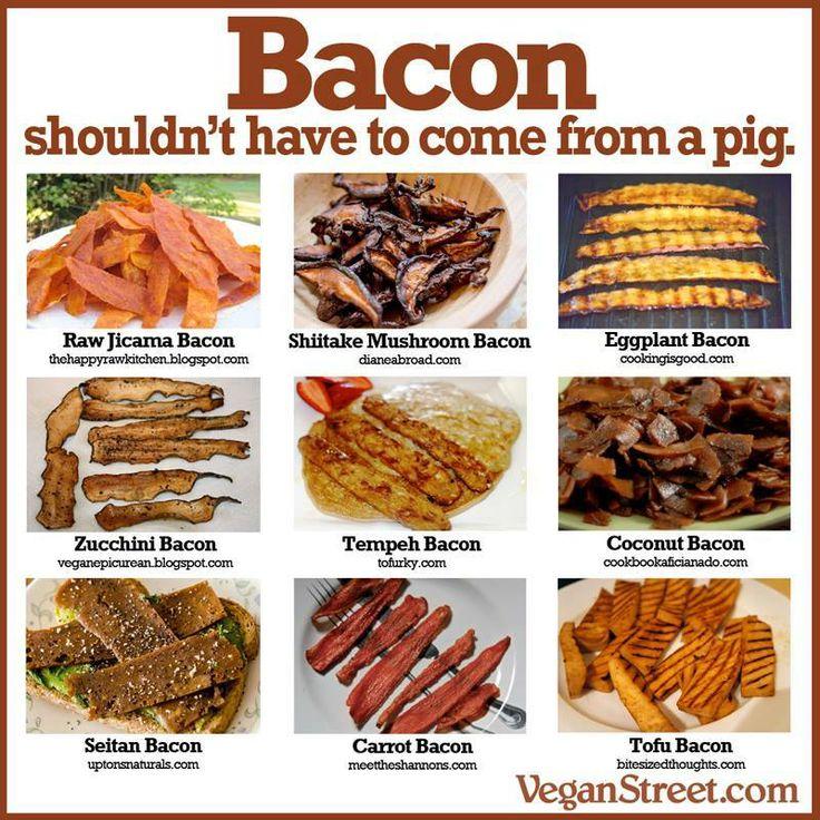 vegan bacon coconut bacon carrot bacon tofu bacon seitan bacon