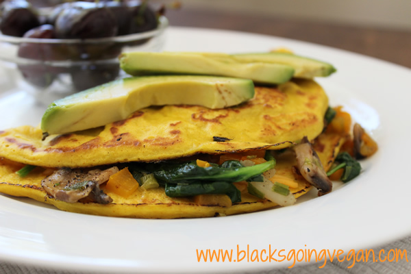 vegan omelette no eggs
