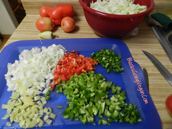 making southern cha cha or chow chow