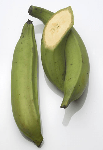 green plantains for baked plantain chips