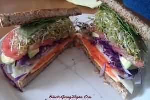 Beast mode overstuff vegetable sandwich