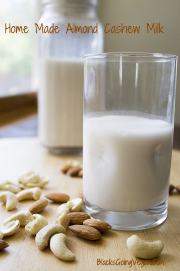 how to make cashew almond milk