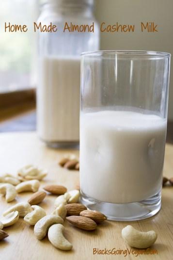 how to make cashew almond milk