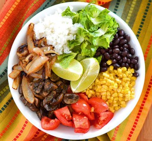 vegan burrito bowls low carb Mexican food recipe for Cinco de Mayo