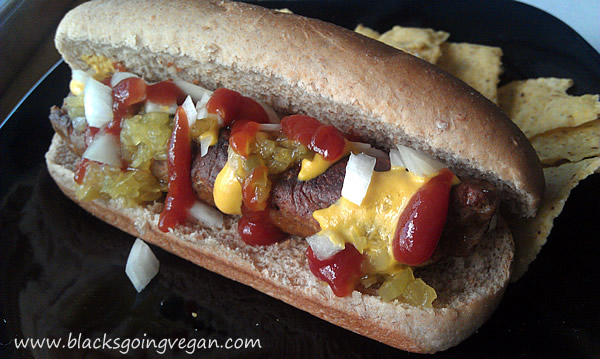 vegan hot dog recipe - veggie dog recipe - how to make vegan hot dogs - seitan recipe - vegan recipes