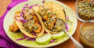 grilled vegetarian plantain tacos for Cinco de Mayo