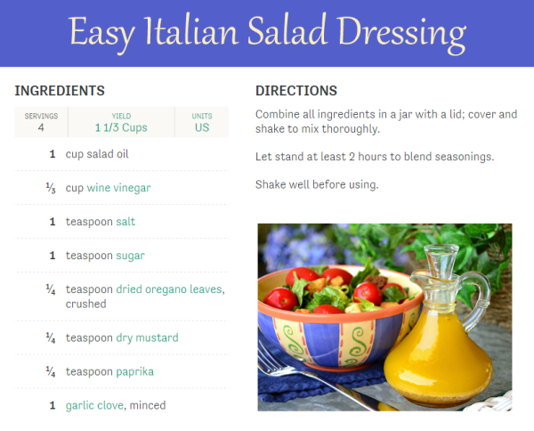 Easy Italian Salad Dressing recipe - vegan salad dressing
