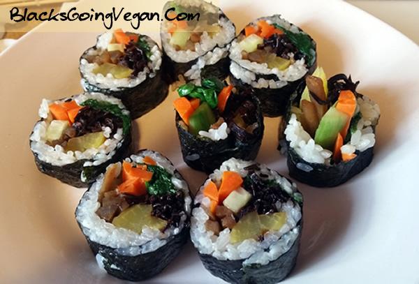 Vegan Kimbap BlacksGoingVegan6