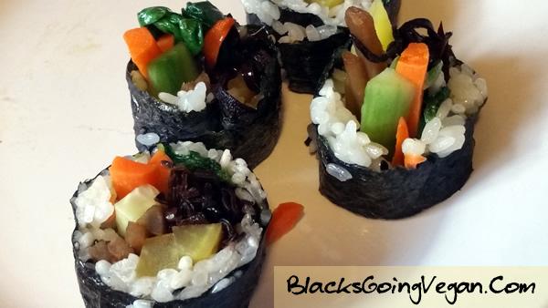 Vegan Kimbap BlacksGoingVegan9