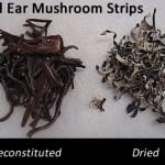wood ear mushrooms used in vegan kimbap