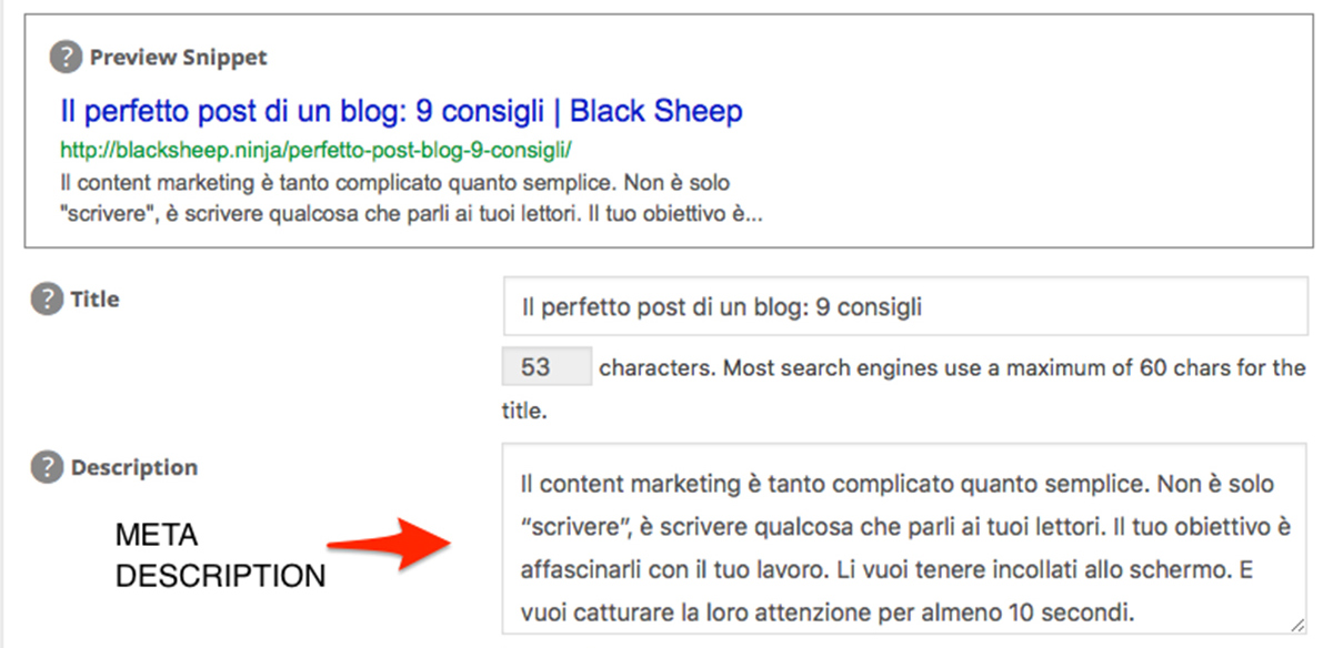 blog post, meta description