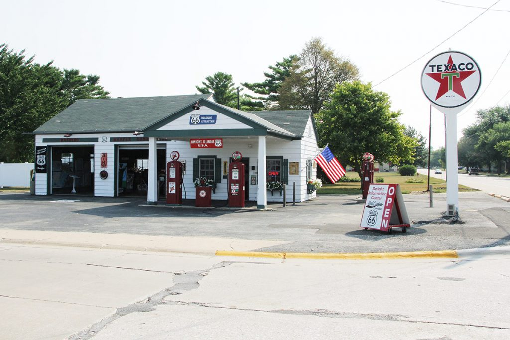 Route 66 Ambler-Becker Texaco Gas Station, oggi trasformata in museo