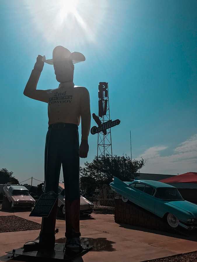 Second Amendment Cowboy in Amarillo, Texas