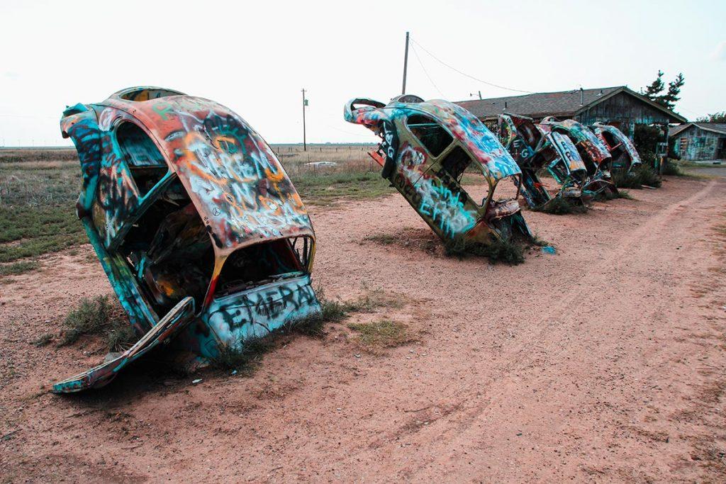 VW Slug Bug Ranch in Texas