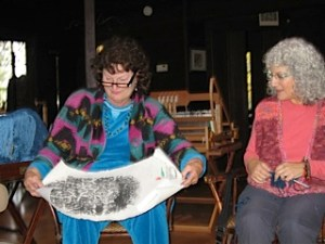 Joyce and Patt with Show n tell