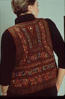 A Luvera back turkey brown vest