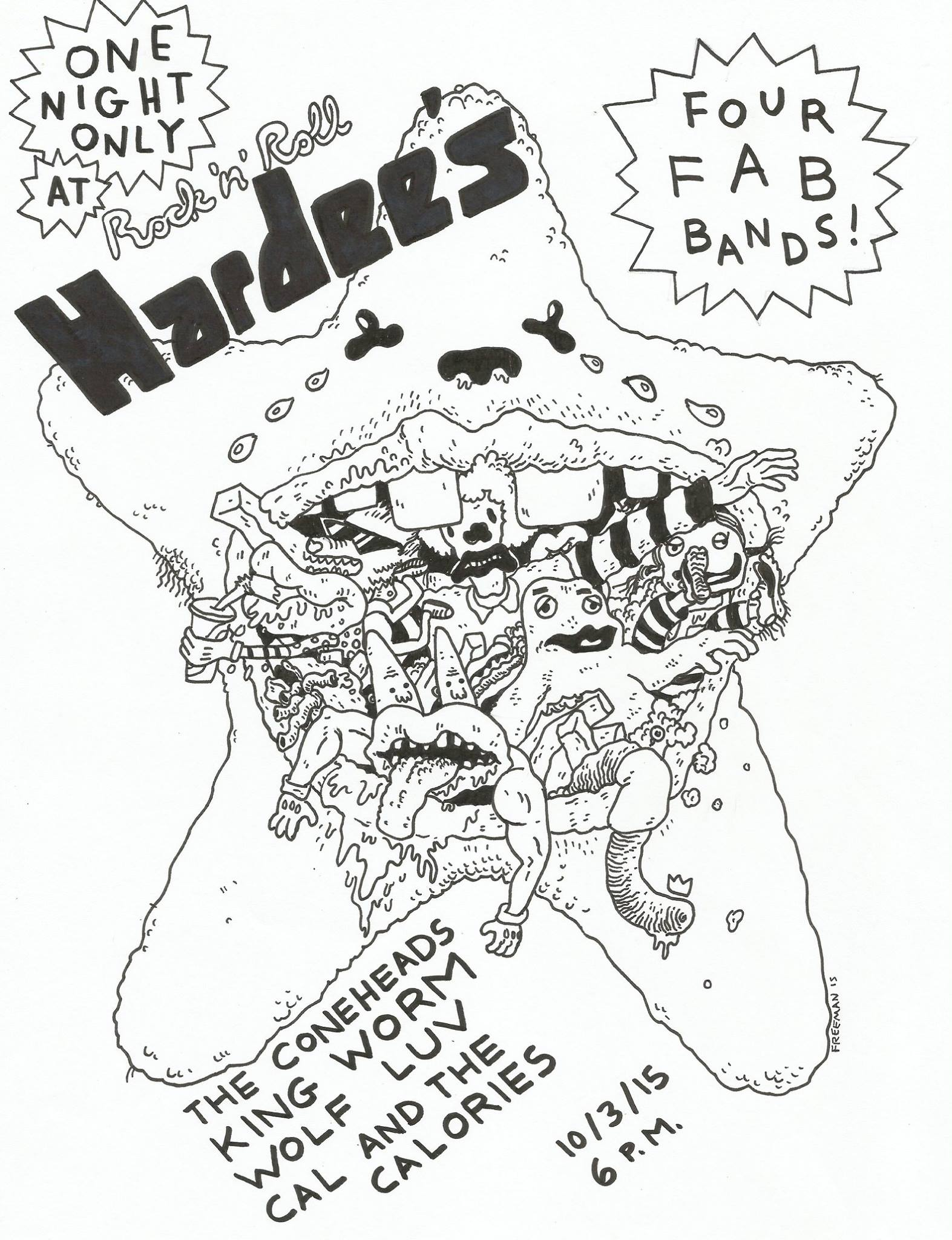 Tonight At Rock N Roll Hardee S The Coneheads King Worm