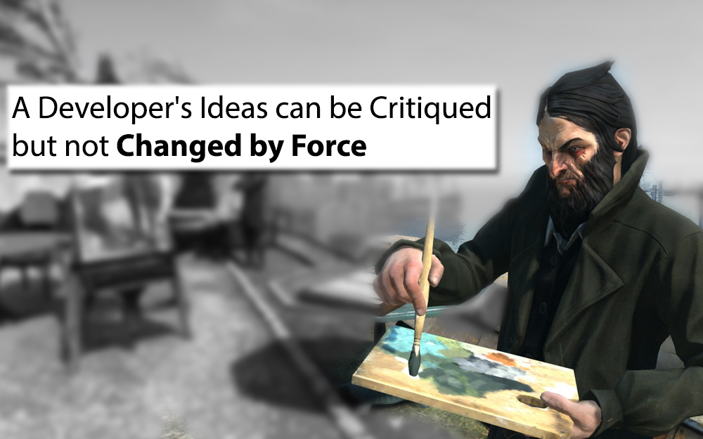 A Developer's Ideas Can be Critiqued but not Changed by Force