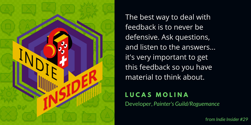Indie Insider #29 – Lucas Molina, Painter's Guild/Roguemance