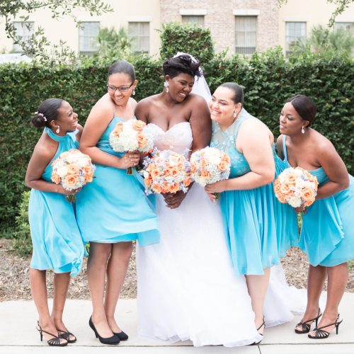 Soft Orange and Blue Hued Savannah Nuptials 1