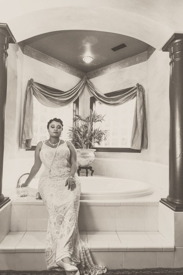 Tish-Jahmaal-429-Edit-595x893 Tishre and Jahmaal's 1920's Art Deco themed Wedding