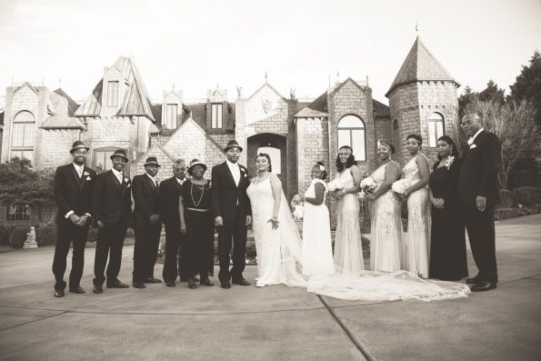 Tish-Jahmaal-814-595x397 Tishre and Jahmaal's 1920's Art Deco themed Wedding
